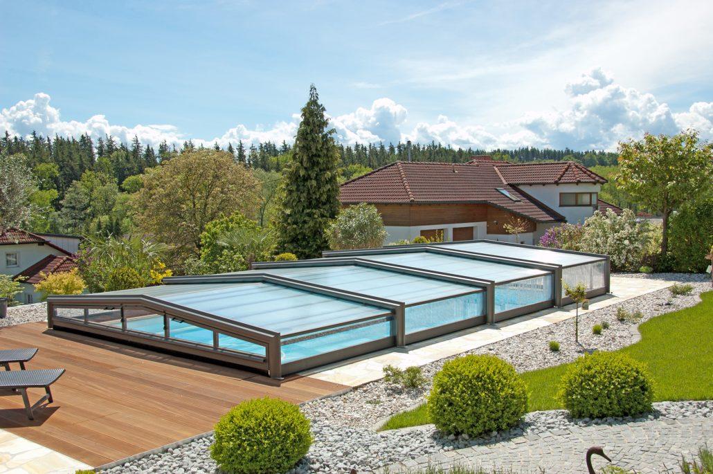 Véranda pour piscine - Abri de piscine bas