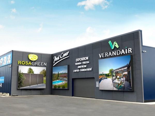 Le showroom de Verandair (véranda et véranda rétractable)