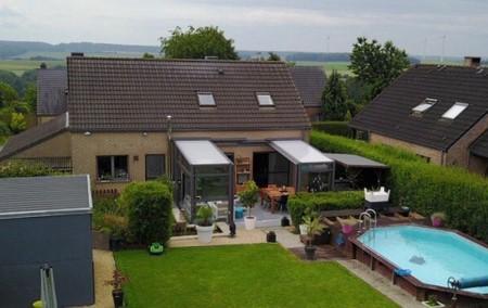 Réalisation d'un abri de terrasse en province de Namur