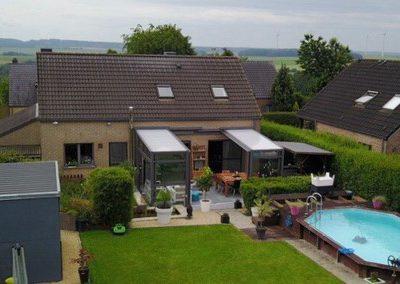 Abri rétractable de terrasse à Namur (Verandair)