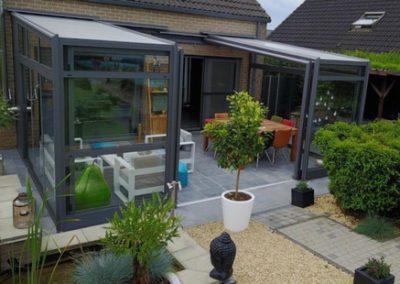 Abri de terrasse rétractable Verandair à Namur (Réalisation)