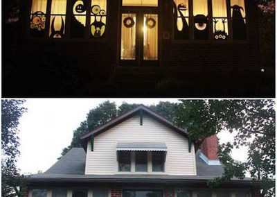 Déco Halloween: monstres aux fenêtres (Source de l'image: Comment-Économiser)