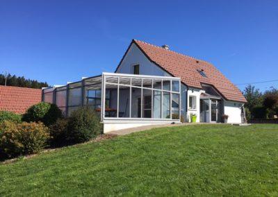 Verandair: réalisation d'une véranda rétractable en Bourgogone