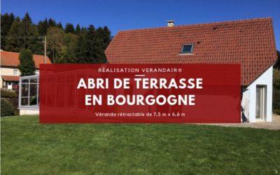 Réalisation d'une véranda rétractable en Bourgogne (France)