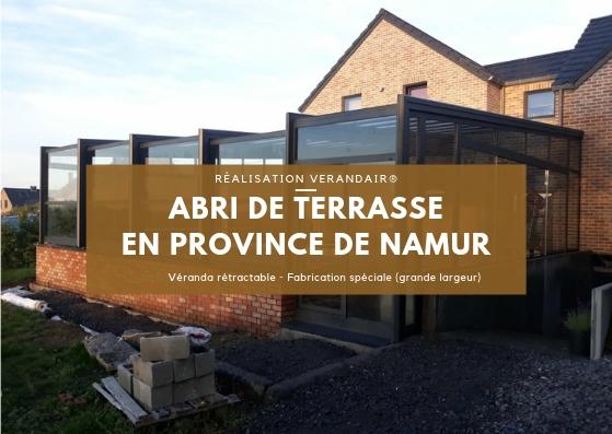 Réalisation d'une véranda rétractable de grande largeur en province de Namur