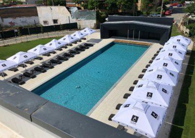 Véranda rétractable pour piscine Verandair