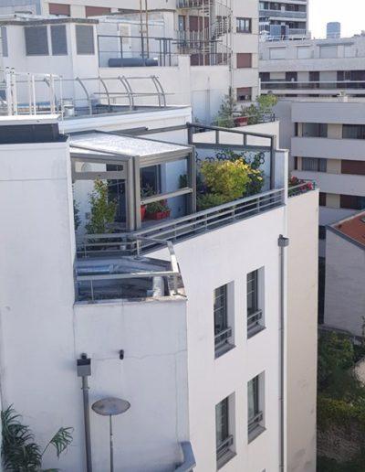 véranda rétractable pour terrasse