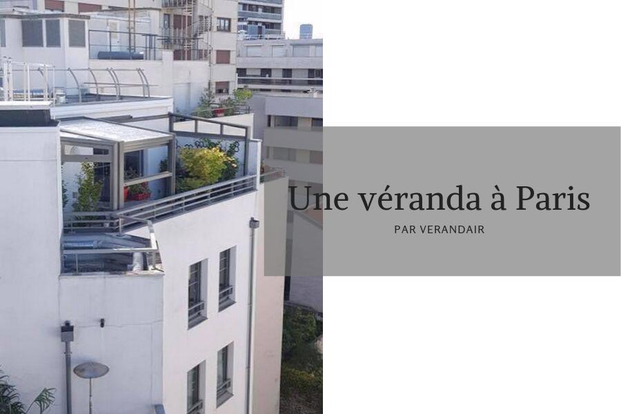 Un abri de terrasse sur les toits de Paris
