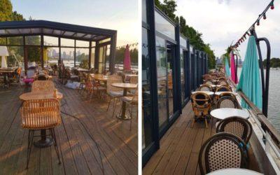 Vue sur la Seine : Un abri de terrasse rétractable