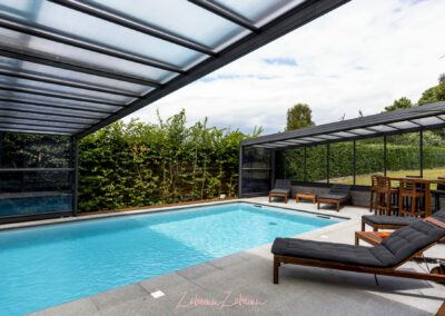 abri piscine haut mural adossé belgique