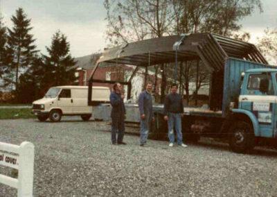 usine poolcover en 1990 - 2